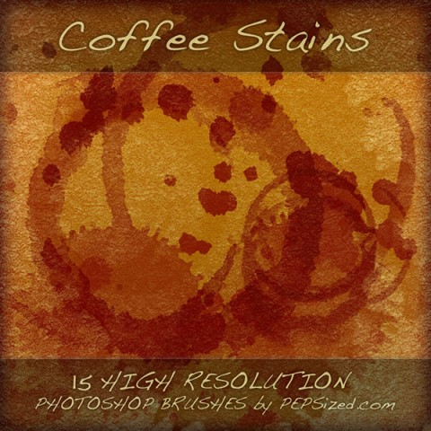 Coffee Stains free Photoshop brushes