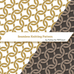 Vector seamless intertwining knitting pattern