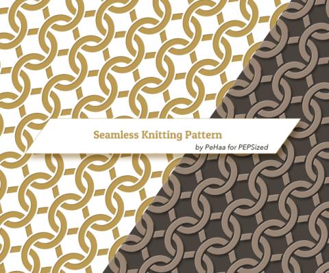 Vector seamless intertwining knitting pattern