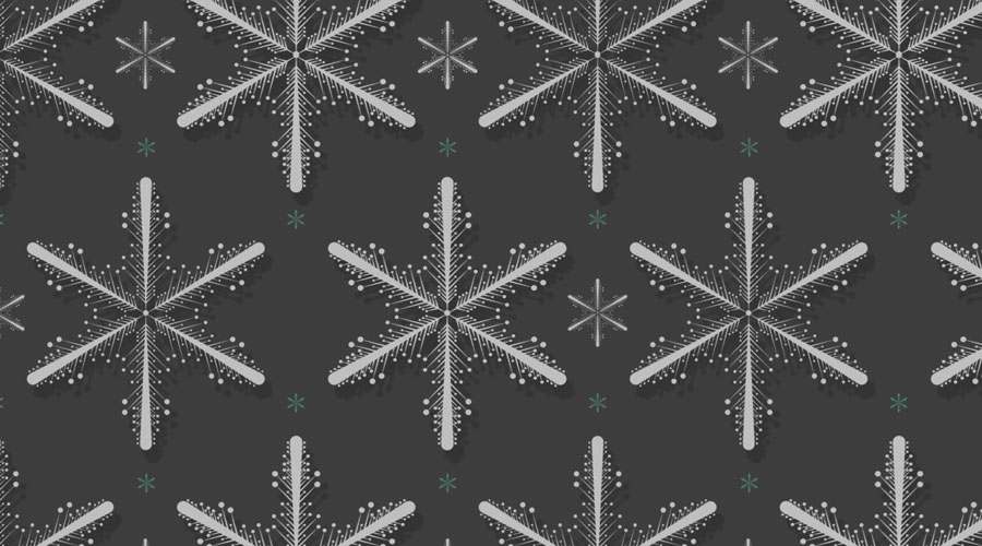 Snowflake Christmas Photoshop Pattern