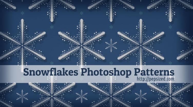 Snowflake Free Photoshop Pattern