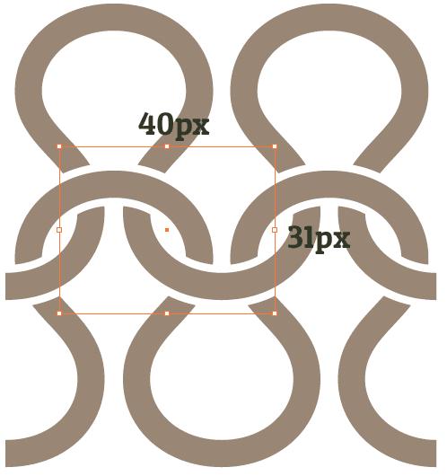 Create a seamless repetitive intertwining knitting pattern