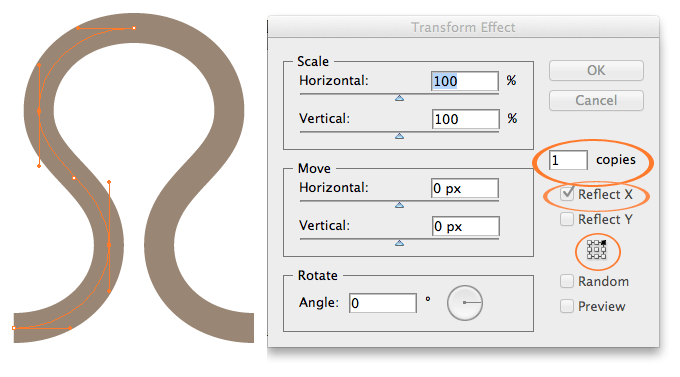 Create a vector intertwining knitting pattern – illustrator
