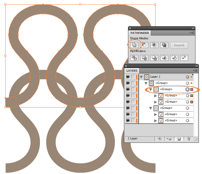 Create a vector knitting pattern - step 5