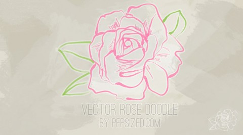 Rose Vector Doodle