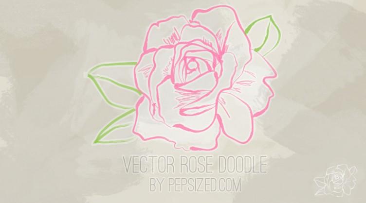 Vector rose doodle pepsized rose vector doodle voltagebd Gallery