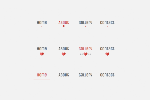 Lavalamp-like menu effect - css-only - tutorial preview
